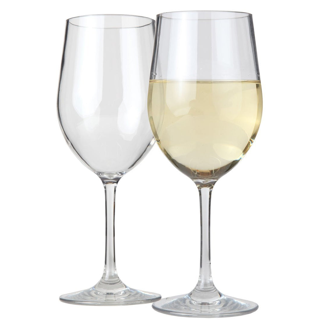 Lily's Home Unbreakable Indoor / Outdoor Chardonnay Wine Glasses, Shatterproof and Reusable.