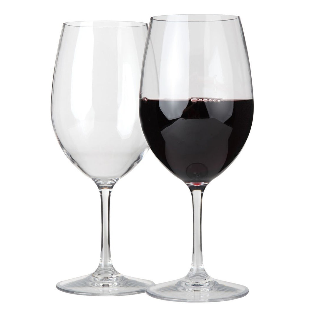 Lily's Home Unbreakable Indoor / Outdoor Cabernet / Merlot Wine Glasses, Shatterproof and Reusable