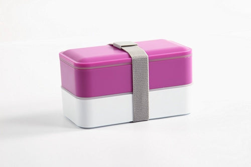 Bento Box, All-in-One Stackable Lunch Box (Purple)