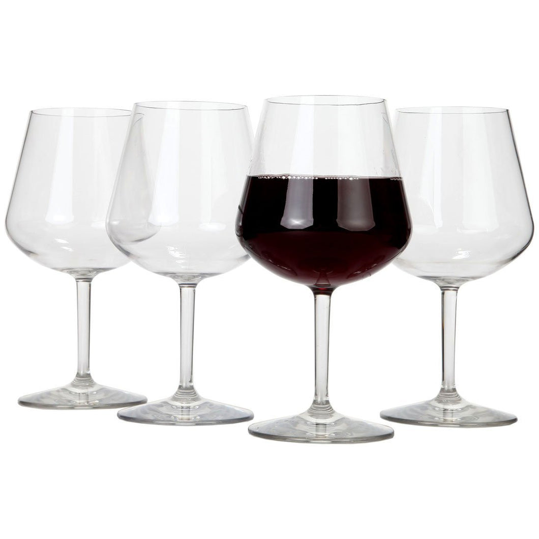 Lily's Home Chef Collection Unbreakable Indoor / Outdoor Pinot Noir / Red Wine Glasses, Shatterproof and Reusable. Set of 4