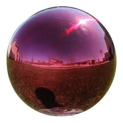 Gazing Globe Mirror Ball in Red Stainless Steel