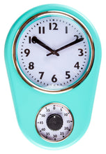 Retro Kitchen Timer Wall Clock