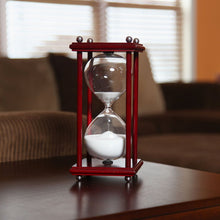 Hourglass Timer Cherry Wood Sand Clock. Square