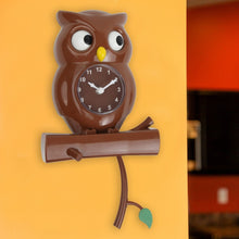 Pendulum Owl Clock with Revolving Eyes