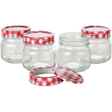Glass Mason Jars, Jelly Jars, Storage Mason Jars with Lids and Bands. Pack of 4