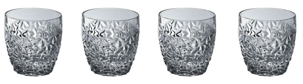 Double Old Fashioned (DOF) Crystal Glasses, Whiskey Glasses. Set of 4