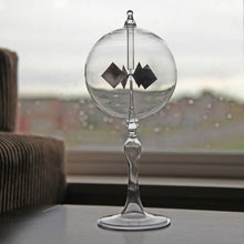 Solar Radiometer, Solar Crookes Light Mill. Clear Sphere. 4 Inch Diameter and 9 Inch Tall