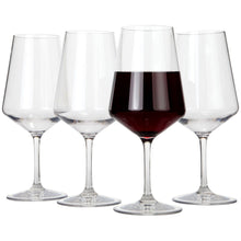 Lily's Home Chef Collection Unbreakable Indoor / Outdoor Cabernet / Merlot Wine Glasses, Shatterproof and Reusable. Set of 4