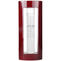 Admiral Fitzroy Storm Glass in a Cherry Wood Finish Frame