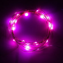 Battery Operated 20 LED String Lights on Silver Wire 7ft Long