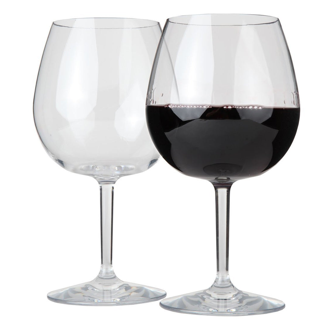 Lily's Home Unbreakable Indoor / Outdoor Pinot Noir / Red Wine Glasses, Shatterproof and Reusable.