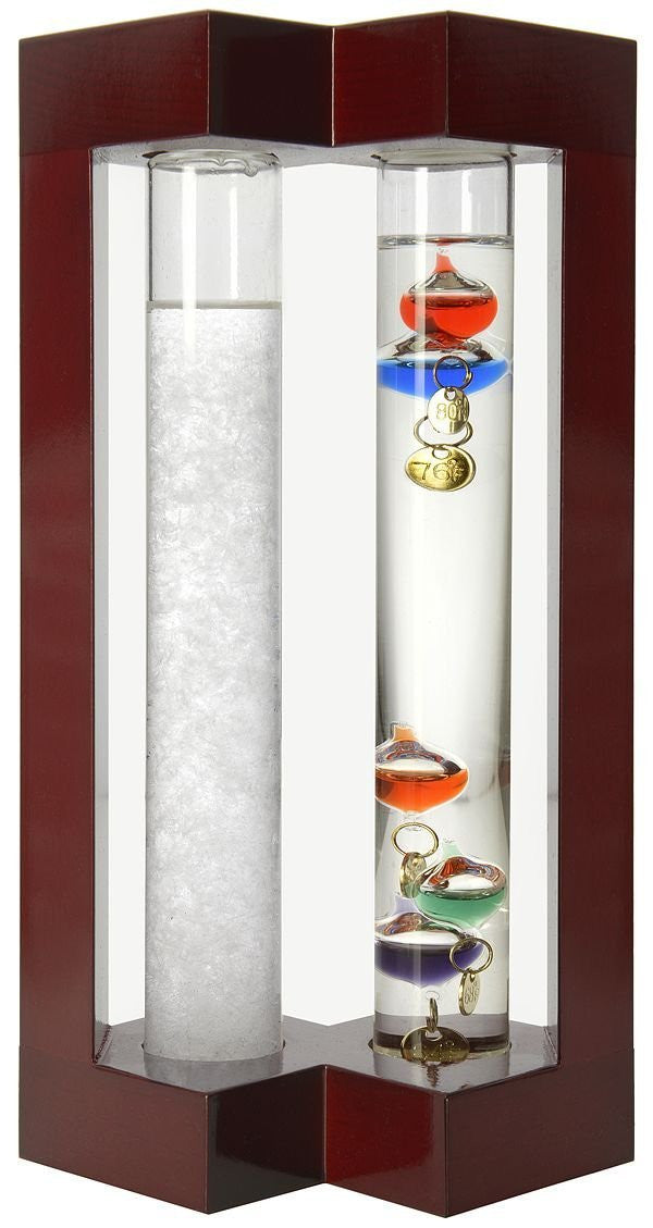 Admiral Fitzroy Storm Glass and Galileo Thermometer