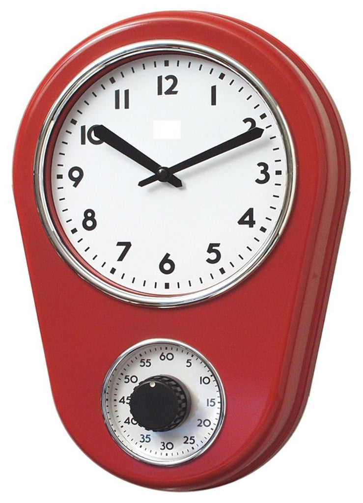 Retro Kitchen Timer Wall Clock Lilyshome