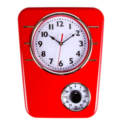 Retro Kitchen Clock With Timer
