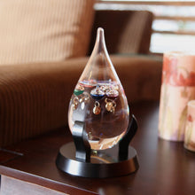 Tear Drop Shaped Glass Galileo Thermometer with 5 Multi Colored Spheres