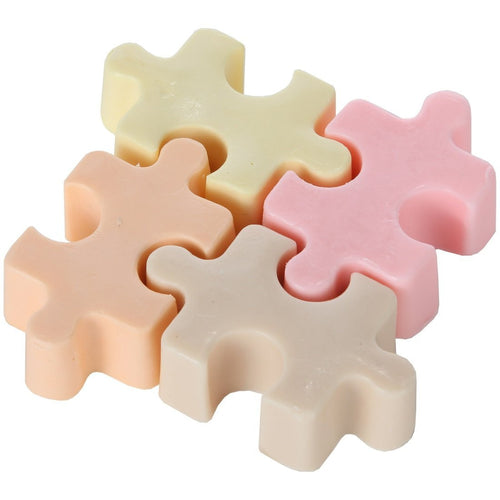 Shea Butter Enriched Scented Puzzle Shaped Guest Soap Gift Set - Pack of 4