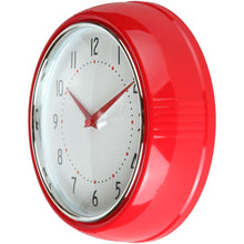 Retro Kitchen Wall Clock, Large Dial Quartz Timepiece, 9.5""