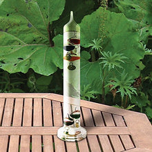 Galileo Thermometer 11 inch Tall with 5 Multi Colored Spheres and Gold Plated Tags in Fahrenheit