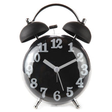 "4"" Quiet Non-ticking Silent Quartz Twin Bell Alarm Clock With Loud Alarm and Nightlight"