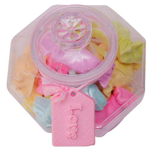 Candy Soaps Decorated Unique Jar - Premium Handmade Present Kit for Women - The Perfect Surprising Home Decor Set