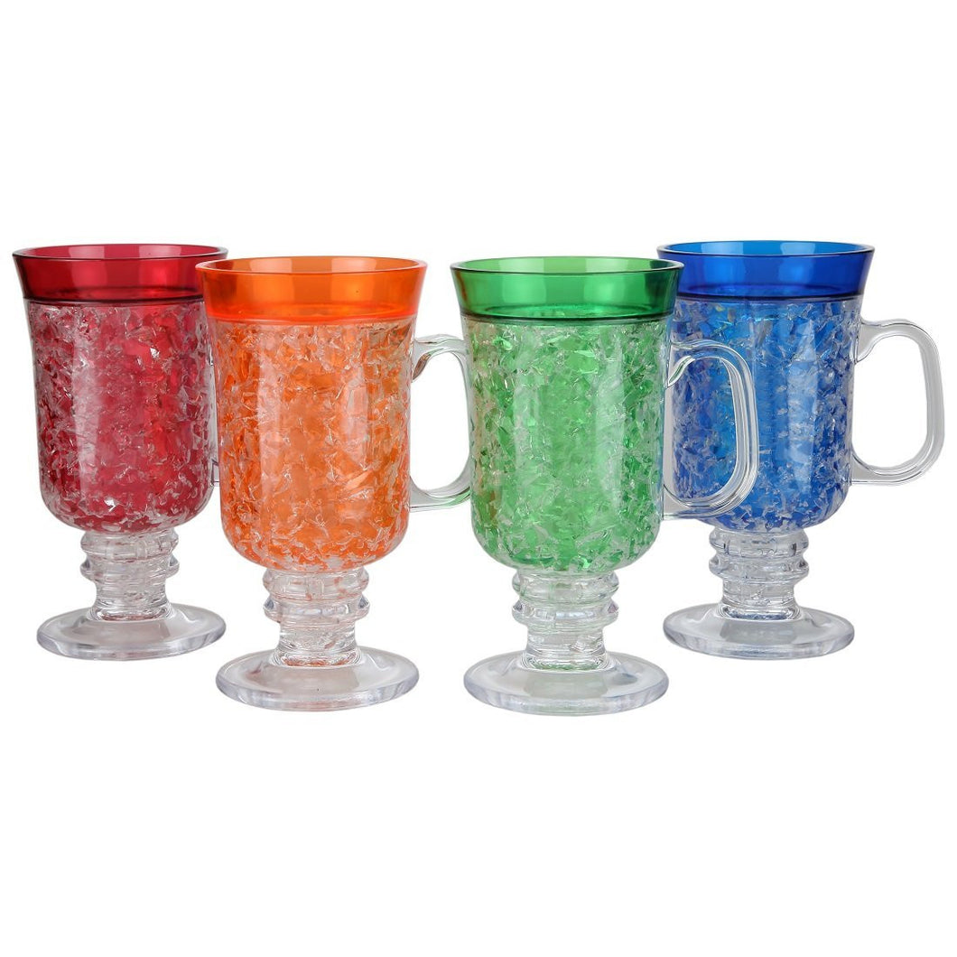 Double Wall Insulated Freezer Gel Mugs 10 Ounce, Set of 4