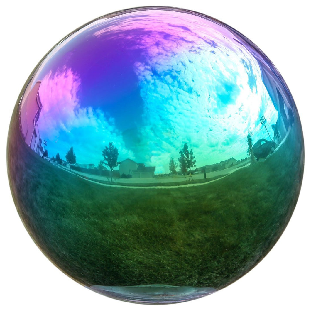 Gazing Globe Mirror Ball in Rainbow Stainless Steel