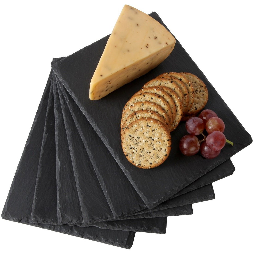 Set of 6 Rustic Slate Cheese Boards, Cheese Trays