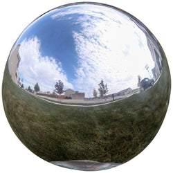 Gazing Globe Mirror Ball in Silver Stainless Steel