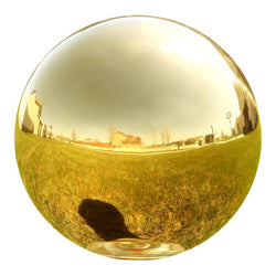 Gazing Globe Mirror Ball in Gold Stainless Steel