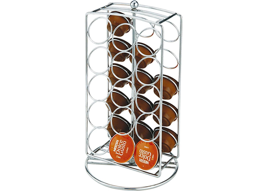 K-Cup Carousel Tower for 30 K-Cups - Chrome