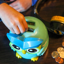 Kid's Money Counting Digital Coin Bank - Owl