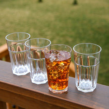 Break Resistant Indoor / Outdoor Plastic Tumblers Set of 4 Hi-Ball Tumblers