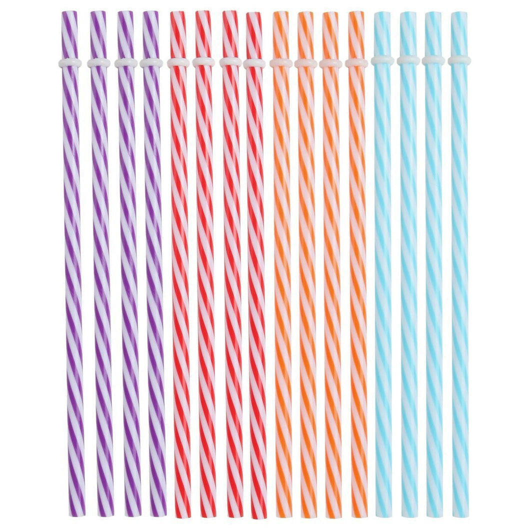 Plastic Drinking Straws, Reusable Straws. BPA Free. Pack of 16 Assorted