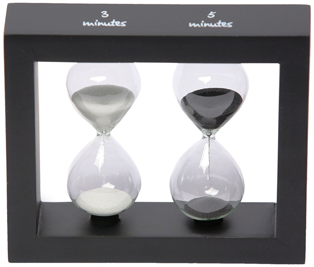Perfect Tea Timer Two-In-One 3 and 5 Minute Sand Hourglass Timers