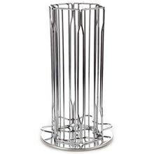 Nespresso Coffee Vertuoline Capsules Holder Carousel. Holds 30 Nespresso Vertuoline Pods - Chrome (Coffee pods are not included)
