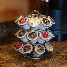 K-Cup Holder Carousel, Hold 27 Coffee or Tea K-Cup Pods (Chrome)