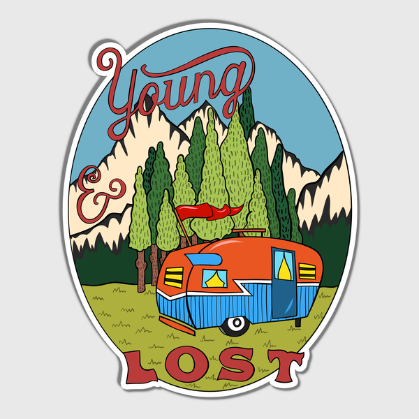 Young And Lost Sticker