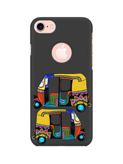 Autorickshaw Apple iPhone 7 with Round Cut Mobile Cover