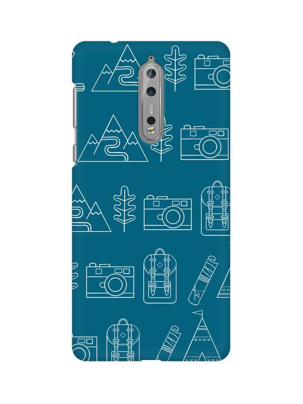 Life is Exploring Nokia 8 Mobile Cover