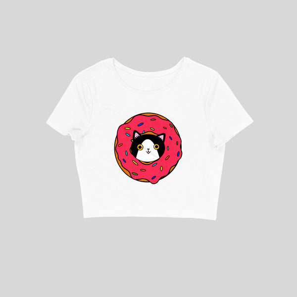 Donut Cat Crop Top