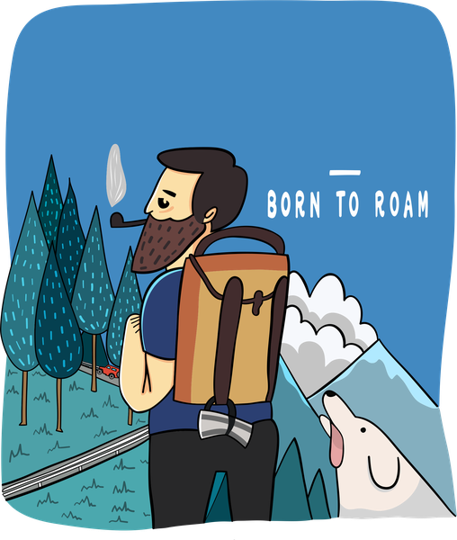 Born to Roam T-shirt - Calenvie