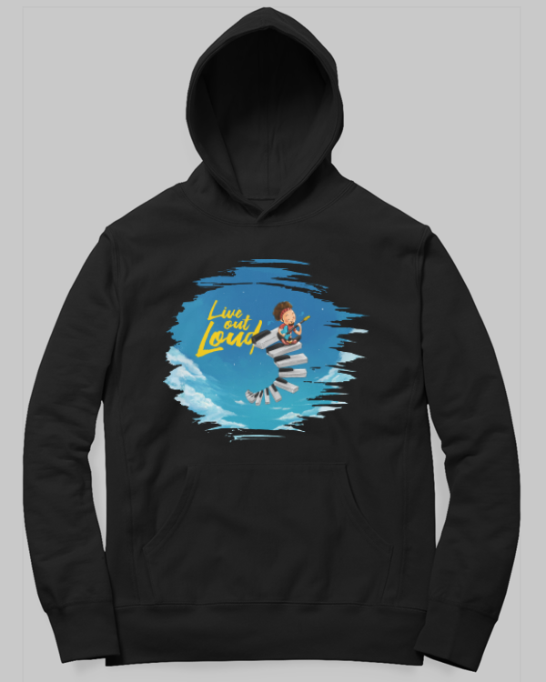 Live Out Loud Hoodie by SmilingSkull