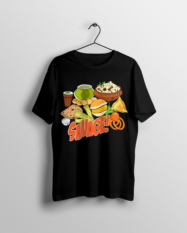 Savage Indian Food T-shirt - Calenvie
