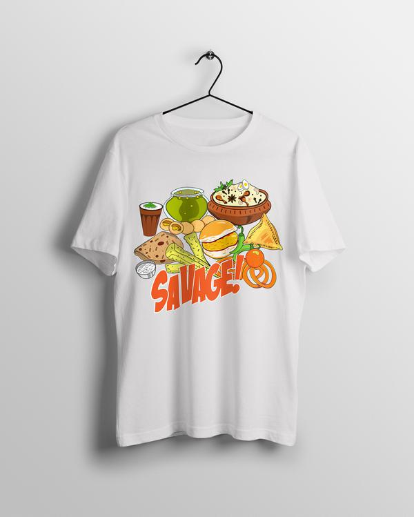Savage Indian Food T-shirt