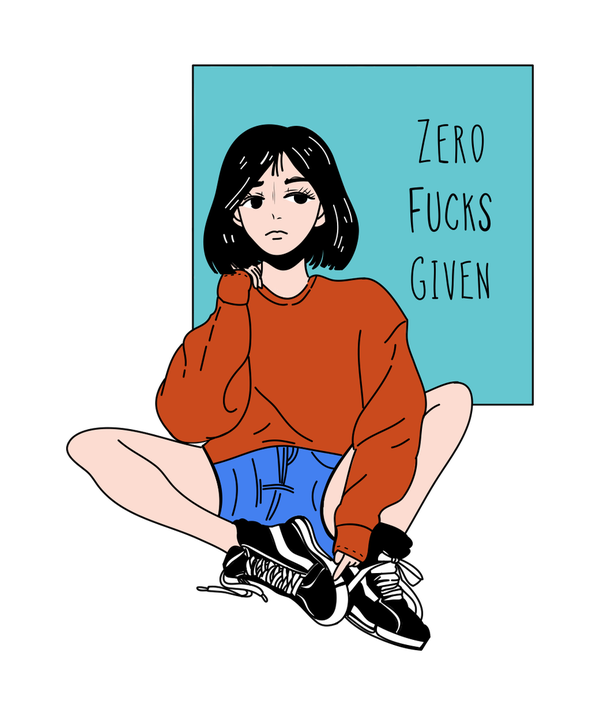 Zero Fucks Given T-shirt - Calenvie