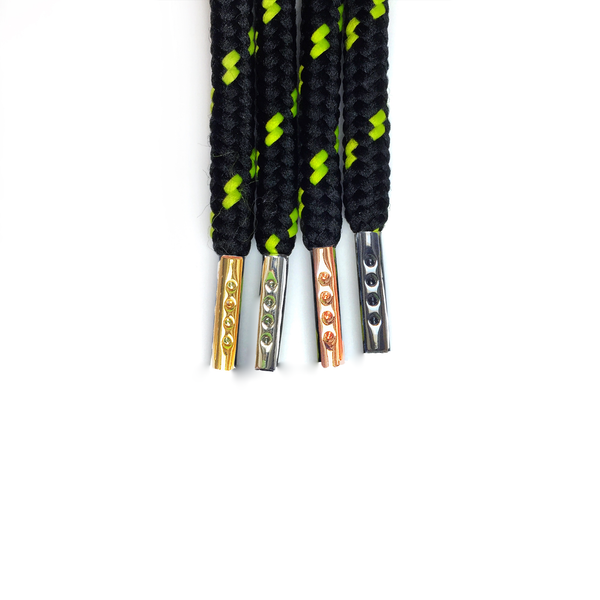 "Black/Neon Yellow Dots 38"" - Rope LacesUltra Boost - No Agenda"