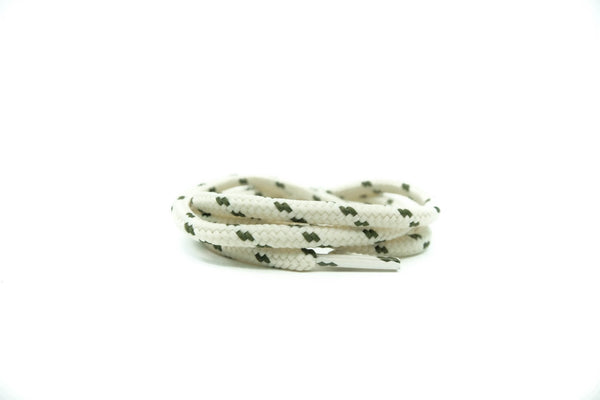 "Cream/Olive Dots 38"" - Rope LacesUltra Boost - No Agenda"