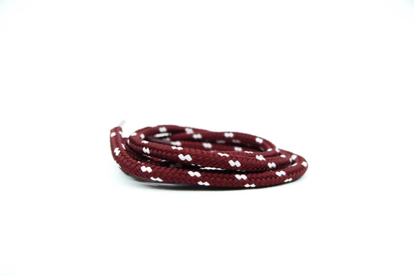"Burgundy/Pink Dots 38"" - Rope LacesUltra Boost - No Agenda"