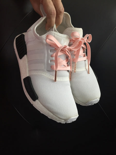 Salmon Pink Shoelaces for Adidas NMD