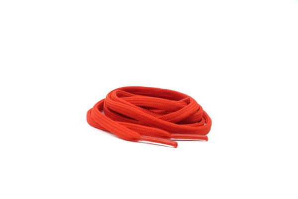 "Flame Scarlet Orange 38"" - Flat LacesUltra Boost - No Agenda"